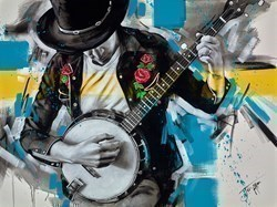 Bluegrass by Jen Allen -  sized 40x30 inches. Available from Whitewall Galleries